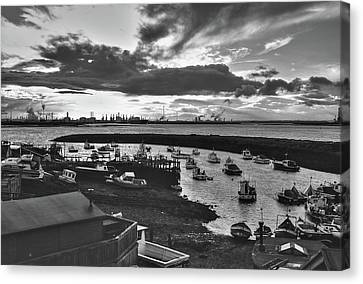 Paddys Hole Canvas Print - Paddy's Hole Monochrome by Jeff Townsend