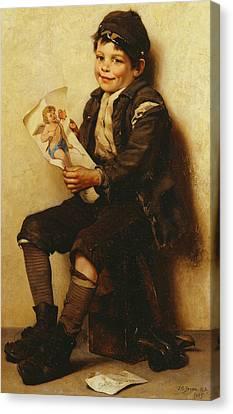 Paddy's Valentine Canvas Print by John George Brown