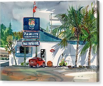 Padi Dive Shop Canvas Print by Donald Maier