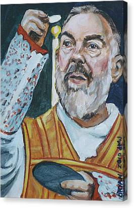 Padre Pio Canvas Print by Bryan Bustard