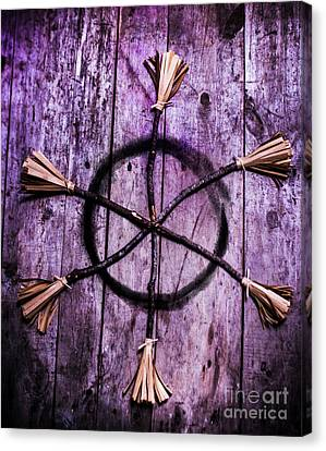 Pagan Or Witchcraft Symbol For A Gathering Canvas Print by Jorgo Photography - Wall Art Gallery