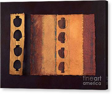 Canvas Print featuring the mixed media Page Format No 3 Tansitional Series   by Kerryn Madsen-Pietsch