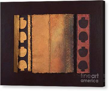 Canvas Print featuring the painting Page Format No.4 Tansitional Series  by Kerryn Madsen-Pietsch
