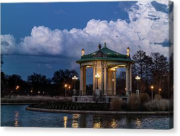 Pagoda At Sunset In Forest Park Canvas Print by Garry McMichael