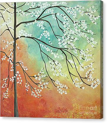 Flowering Dogwood Blossom Joy Canvas Print by Barbara McMahon