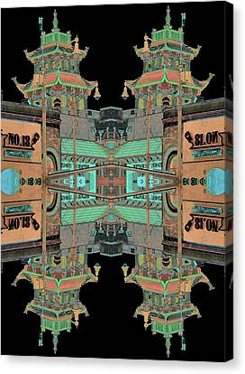 Pagoda Tower Becomes Chinese Lantern 1 Chinatown Chicago Canvas Print by Marianne Dow