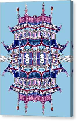 Pagoda Tower Becomes Chinese Lantern 2 Chinatown Chicago Canvas Print by Marianne Dow
