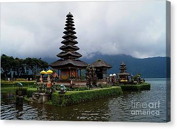 Asia Canvas Print - Pagoda In Bali Island. Water Temple by Timea Mazug