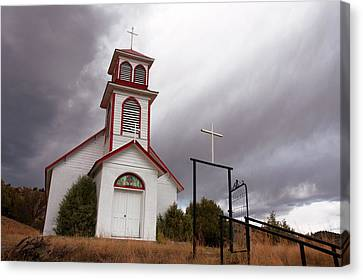 Pagosa Junction Church Canvas Print by Jerry McElroy