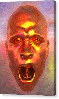 Pain Copper Mask Canvas Print by Caito Junqueira