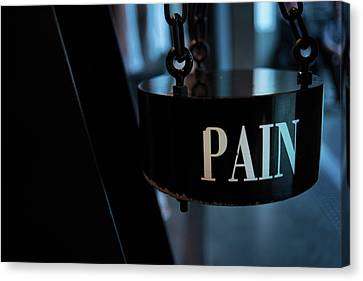 Frailty Canvas Print - Pain by Jean Gill
