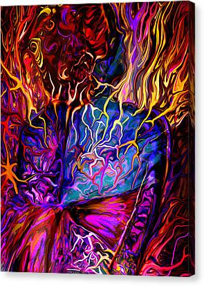 Pain Slow Death Five Canvas Print