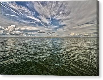 Paint Brush Sky - Ft Myers Beach Canvas Print by Christopher L Thomley