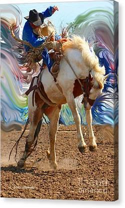 Giselaschneider Canvas Print - Paint Bucking Horse  ... Montana Art Photo by GiselaSchneider MontanaArtist