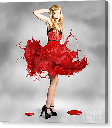 Paint Dress Pin-up Canvas Print