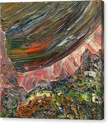 Non-objective Art Canvas Print - Paint Number 10 by James W Johnson