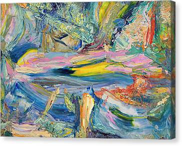 Abstract Expressionism Canvas Print - Paint Number 31 by James W Johnson