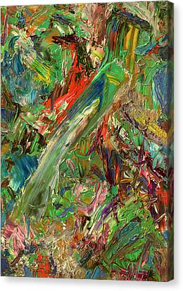 Abstract Expressionism Canvas Print - Paint Number 32 by James W Johnson
