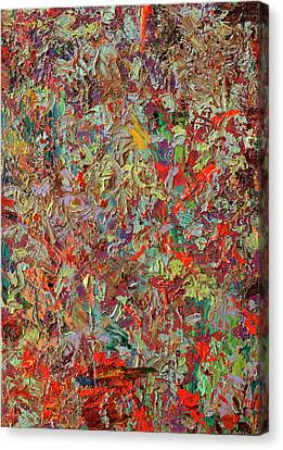 Abstract Expressionism Canvas Print - Paint Number 33 by James W Johnson
