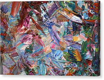 Paint Number 42-b Canvas Print by James W Johnson