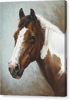 Paint Portrait Canvas Print by Margaret Stockdale