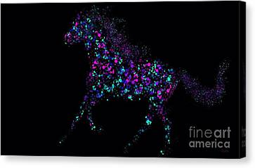 Canvas Print featuring the painting Paint Splattered Pony by Nick Gustafson