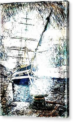 Painted Amerigo Vespucci Canvas Print by Andrea Barbieri