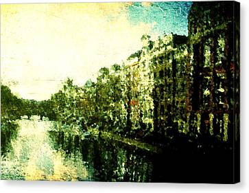 Painted Amsterdam Canvas Print by Andrea Barbieri