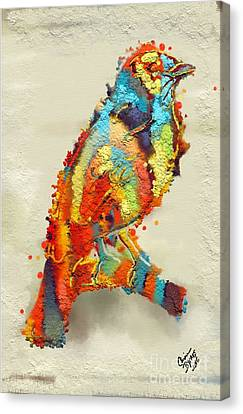 Painted Bird Canvas Print