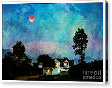 Painted By Fog And Moonlight Canvas Print by Leslie Hunziker