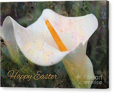 Canvas Print featuring the digital art Painted Calla Lily Easter by JH Designs