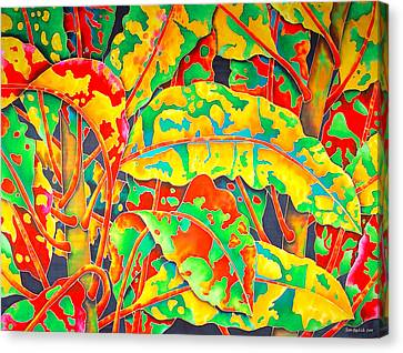 painted Crotons Canvas Print by Daniel Jean-Baptiste