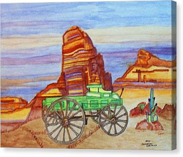 Painted Desert Canvas Print by Connie Valasco