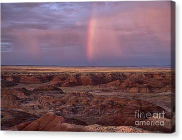 Painted Desert Rainbow Canvas Print by Melany Sarafis