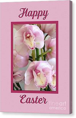 Canvas Print featuring the digital art Painted Easter Orchids by JH Designs
