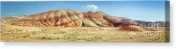 Painted Hills Pano 1 Canvas Print by Jerry Fornarotto