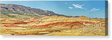 Painted Hills Pano 2 Canvas Print by Jerry Fornarotto