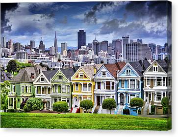 Painted Ladies Of San Francisco  Canvas Print