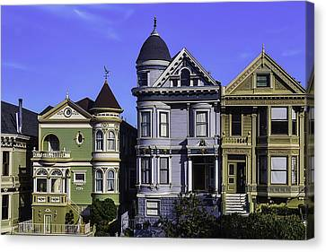 Painted Ladies Of San Francisco  Canvas Print by Garry Gay