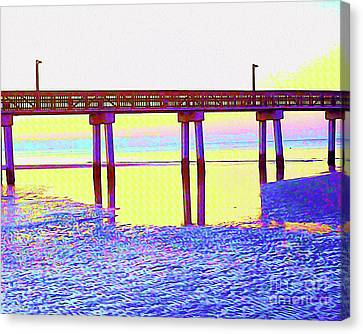 Surf Lifestyle Canvas Print - Painted Low Tide Reflected by Chris Andruskiewicz