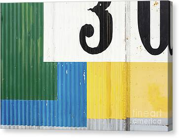 Fishing Shack Canvas Print - Painted Metal Building Abstract by Edward Fielding
