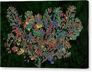 Canvas Print featuring the painting Painted Nature 2 by Sami Tiainen
