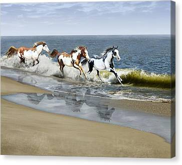 Painted Ocean Canvas Print by Barbara Hymer
