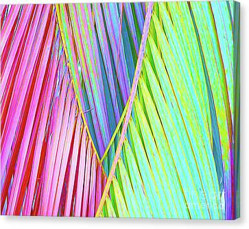 Surf Lifestyle Canvas Print - Painted Palms by Chris Andruskiewicz