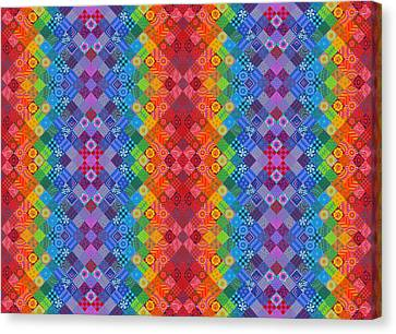 Bold Colors Canvas Print - Painted Patchwork by Jane Tattersfield