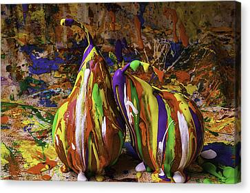 Painted Pears Canvas Print by Garry Gay