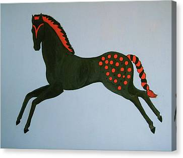 Canvas Print featuring the painting Painted Pony by Stephanie Moore