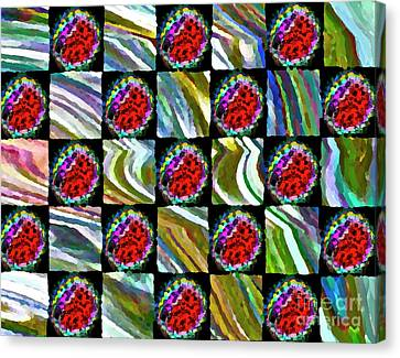 Painted Quilt Canvas Print by Gwyn Newcombe