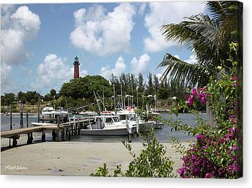 Painted Red Around 1910 Jupiter Inlet Lighthouse Florida Canvas Print