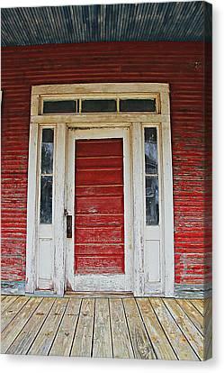 Painted Red Canvas Print by Lynn Jordan